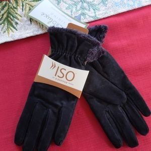 Women's isotoner gloves black size large